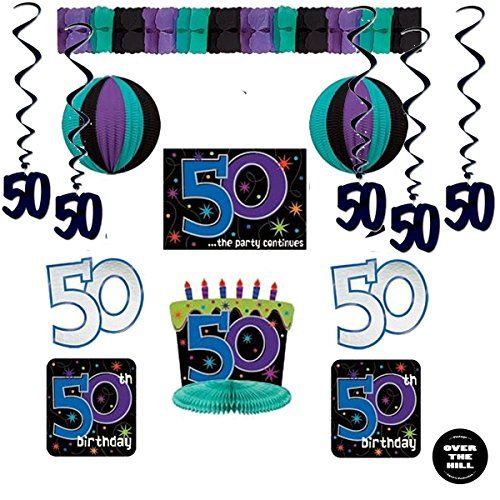 birthday party decorations birthday decorating kit pieces black dangling whirls and an over the hill button see this great product