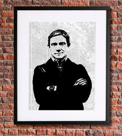Sherlock Poster | 8x10 Instant Download Printable | $5.50 | Martin Freeman as John Watson