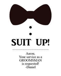 ask groomsmen