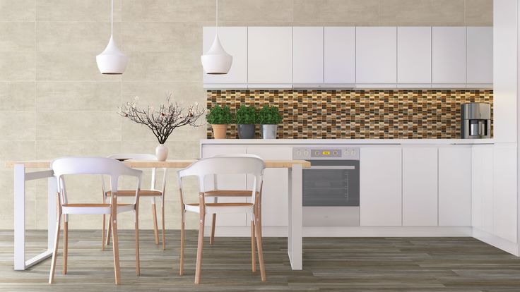 ¿Qué tal si intentas esta idea? Utiliza mosaicos de colores vivos en la pared de tu cocina para dar una vibra del caribe, conoce otros tips aquí