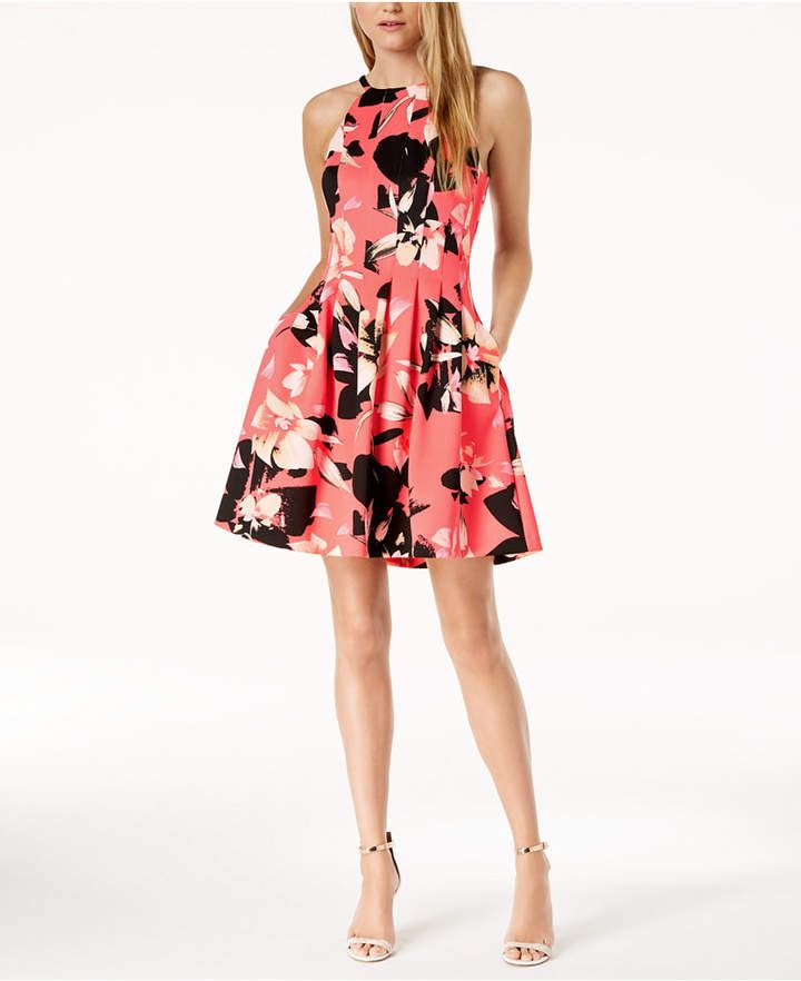 d3f715dfbb815 Shop for Printed Fit & Flare Pocket Dress by Vince Camuto at ShopStyle. Now  for $99.