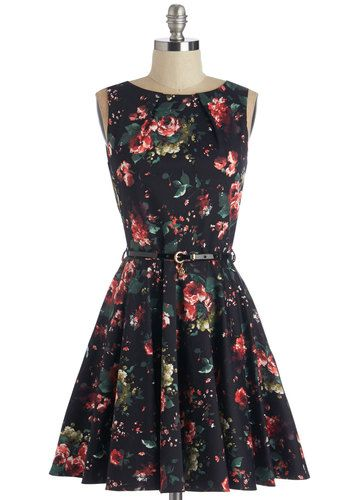 Luck Be a Lady Dress in Roses. If youve been searching for a charming new frock, then youre in luck! #gold #prom #modcloth