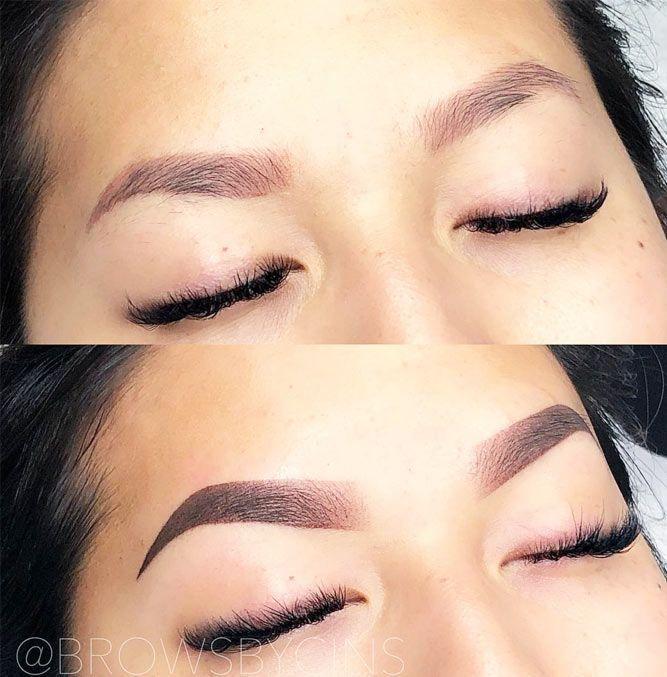 Powder Ombre Eyebrows Permanent Makeup #powderbrows # ...