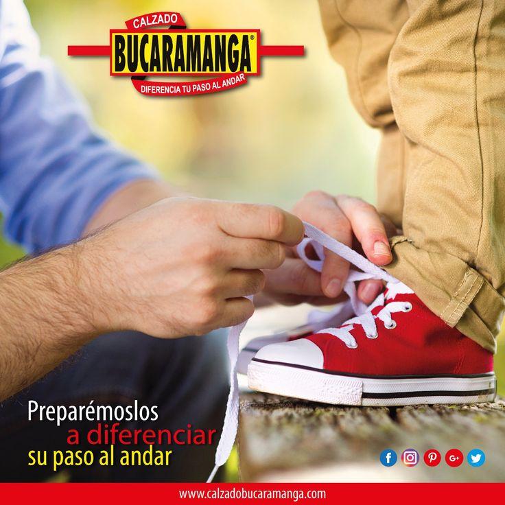 Preparémoslos a diferenciar su paso al andar con Calzado Bucaramanga. ¡Feliz día del niño!