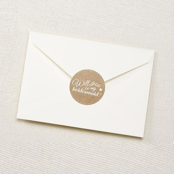 Will you be my bridesmaid Sticker Envelope www.vivianyeung