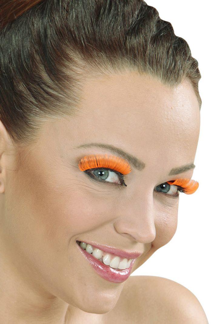Pestañas postizas cortas hincha Holanda adulto: Estas pestañas postizas para mujer son de color naranja.Incluyen un pequeño tubo de pegamento que facilita al aplicación en los párpados.¡Qué no se diga que...
