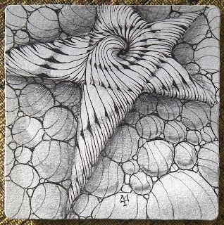 Starry Eyed Zentangle by Maria Thomas, Zentangle Co-founder