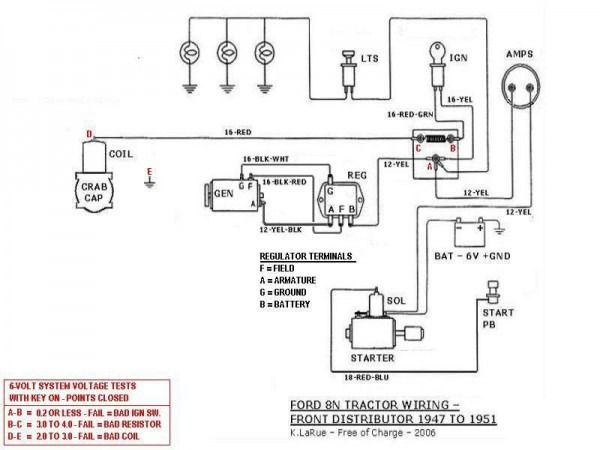 ford 8n wiring diagram diagram, ford, ford 8n parts  ford 9n 2n 8n 12 volt alternator wiring