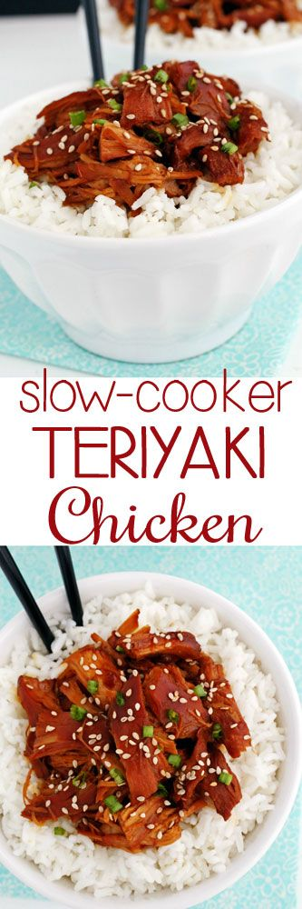 Slow-Cooker Teriyaki Chicken #chicken #slowcooker #comfortfood