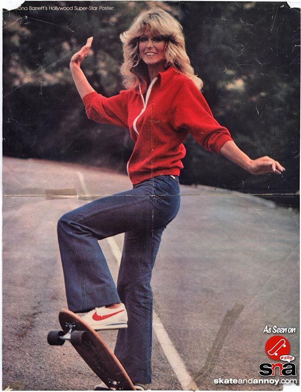 Farrah Fawcett A Skateboarding Pin Up Potpourri Pins To