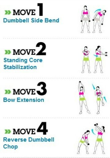 I did these today and not only did it work out my abs, my arms were ON FIRE! Loved it!!!