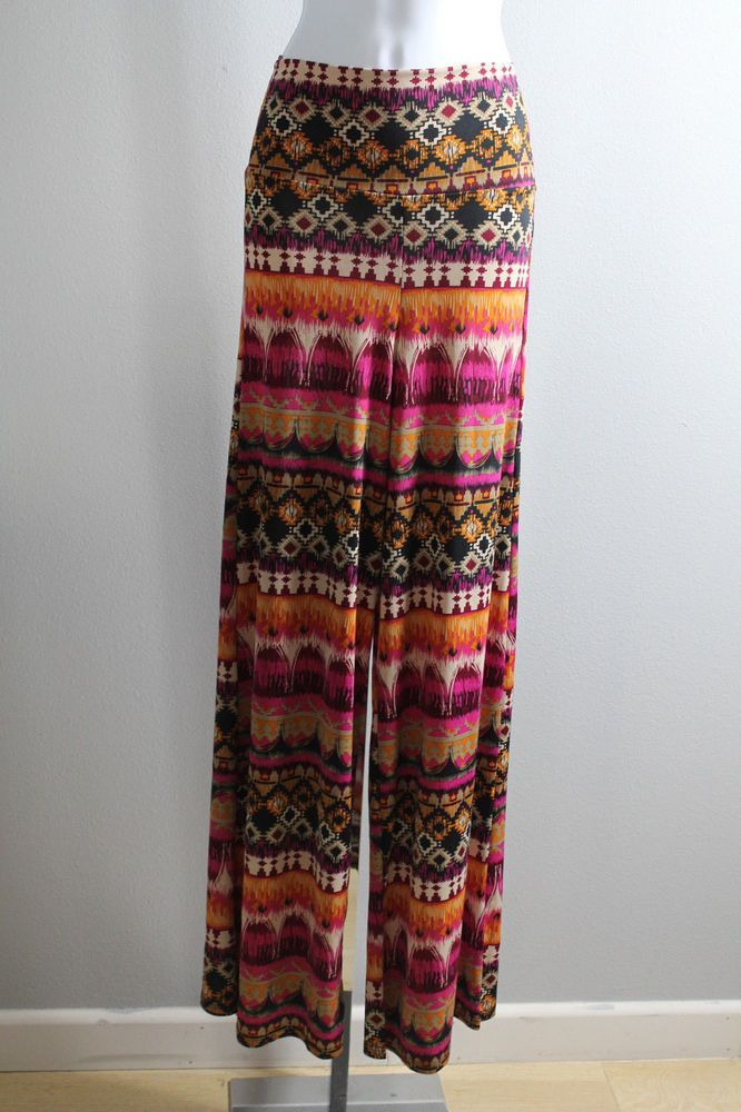 Unique Aztec Print Printed Wide Palazzo Pants  #Other #CasualPants
