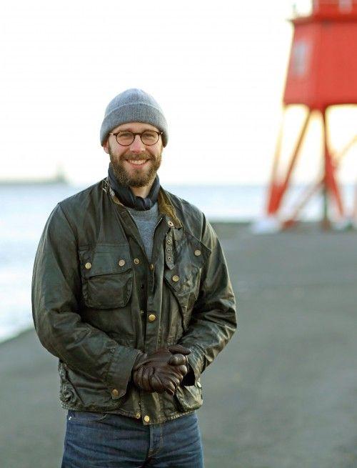 Simon Crompton in Barbour motorcycle jacket