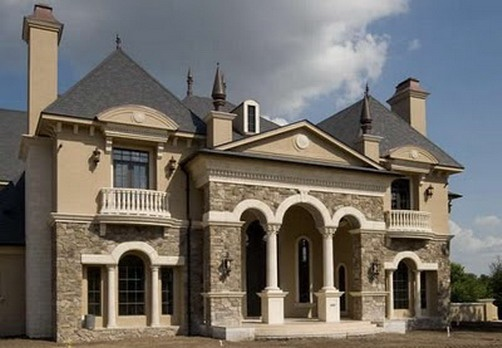 Grand french classic design home exterior beautiful for New classic homes