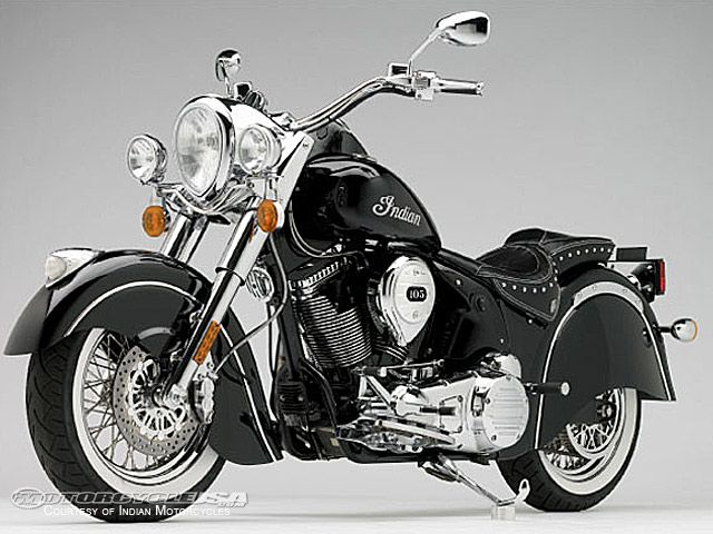 Indian Motorcycles released images of its first prototype  the 2009 Chief Standard  that will also be available in three other variations - the Deluxe  the Roadmaster and the Vintage.