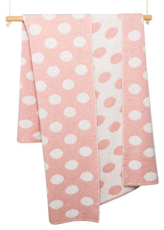 luna ninos shell spot cot blanket
