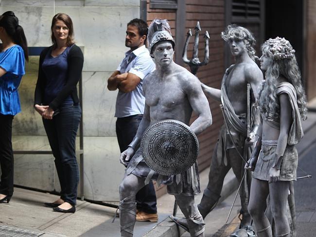 Gladiator Human Statues