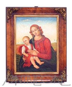 Quadro olio su tela. Madonna con bambino BAM200OR12MIN