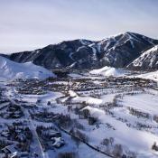 Sun Valley Idaho looks like a peaceful sleeping village in this beautiful photograph