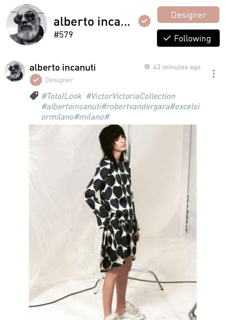 Alberto Incanuti, a fashion designer based in Milan, Italy.