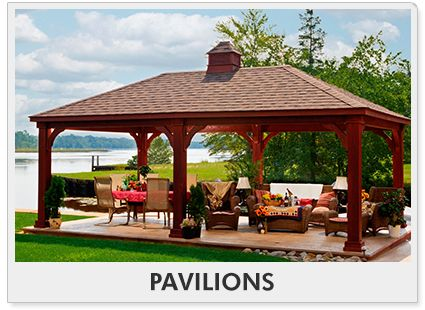 Pavilion Outdoor Kitchen All Rooms Pergolas Awnings Gazebos Outdoors Pavillion Backyard
