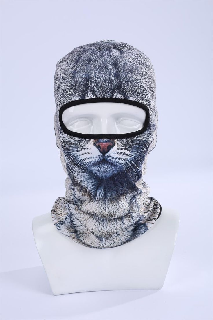 Cat Dog 3D Full Head Ski Mask