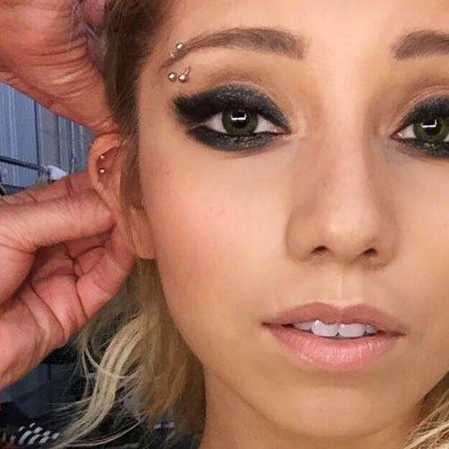 Kirstin Maldonado Piercings | Eyebrow piercing, Face piercings, Eyebrow piercing girl