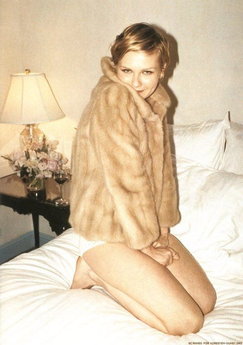 Kirsten Dunst in mink fur