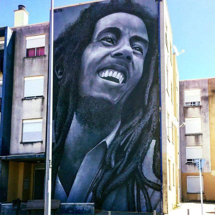 artist Odeith does Bob Marley  Quinta do Mocho in Portugal #odeith #streetart #muralart