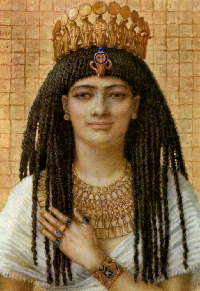 Mutnezemt, Ancient Egyptian queen of the 18th dynasty Wall Art Prints by Winifred Mabel Brunton