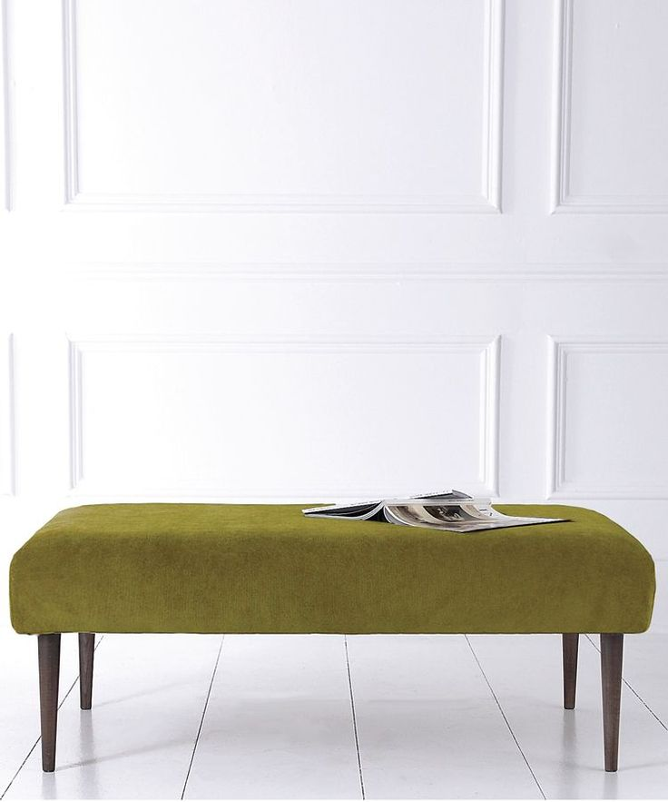 Our exclusive range of made-to-order upholstery includes our stylish new large Ethan footstool coffee table with elegant tapered legs It is