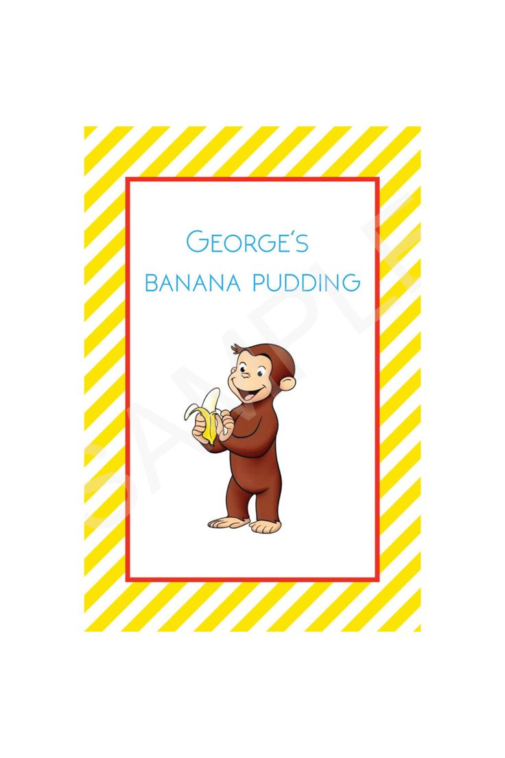 21 Best Curious George Invitations For Owens Birthday Images On