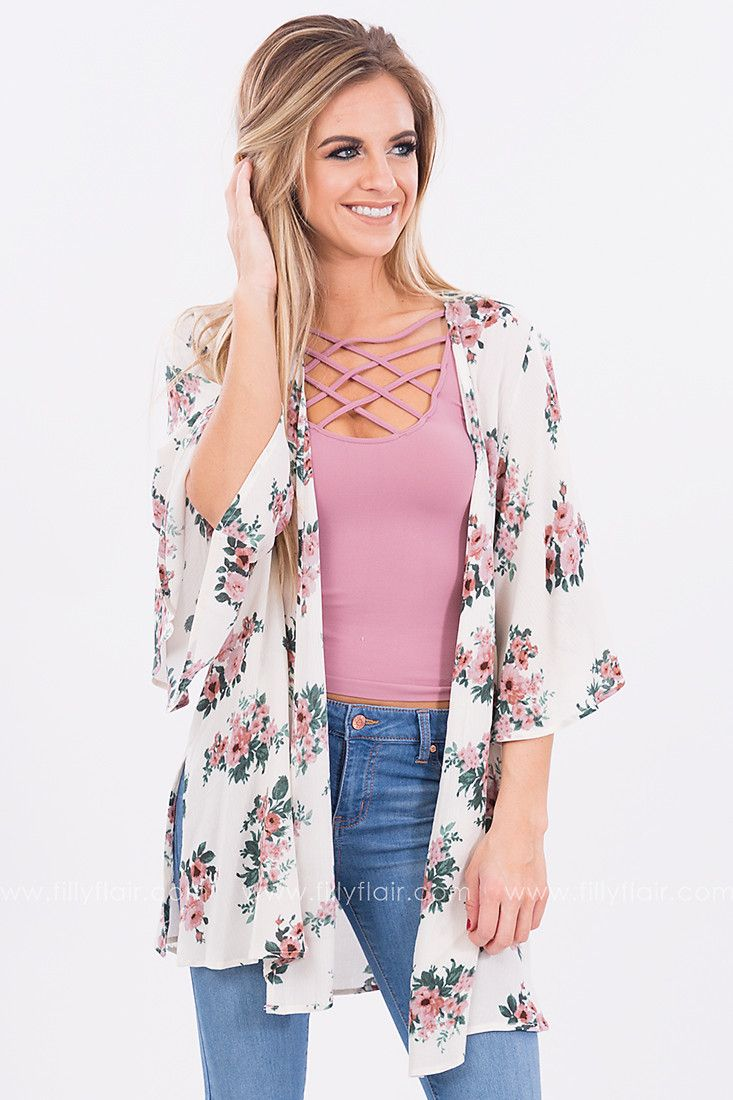 25+ Best Floral Kimono Outfit Ideas On Pinterest