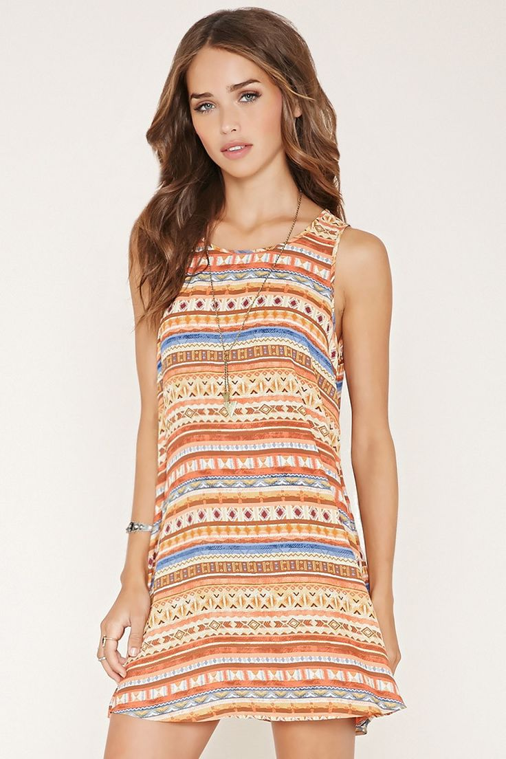 Tribal Print Shift Dress | Forever 21 - 2000182590