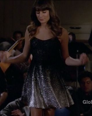 Only $98!! Rachel's black and silver dress on Glee.  Outfit details: http://wornontv.net/11555/