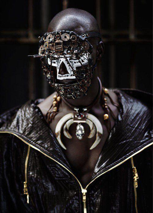 <3: Robots Tribal Fashion, Character Inspiration, Rene Habermach, Dark Beautiful, Apocalyptic Fashion, Fashion Masks, Beautiful Faces, Fashion Editorial, Photo