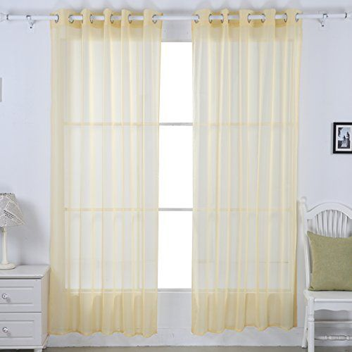 "Deconovo Grommet Solid Sheer Voile Window Curtain 52""x84"",Yellow,1 Pair Deconovo http://www.amazon.com/dp/B00WTXOMCI/ref=cm_sw_r_pi_dp_HJoYvb03M8FN6"