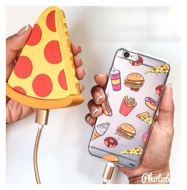 """Pizza portable charger with food case"" by samie-0312 ❤ liked on Polyvore featuring beauty"
