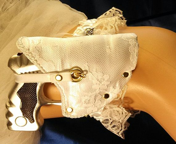 Wedding Garter With Gun And Holster For Bachelorette Bridal Or Bridesmaids Gift Too Sexy
