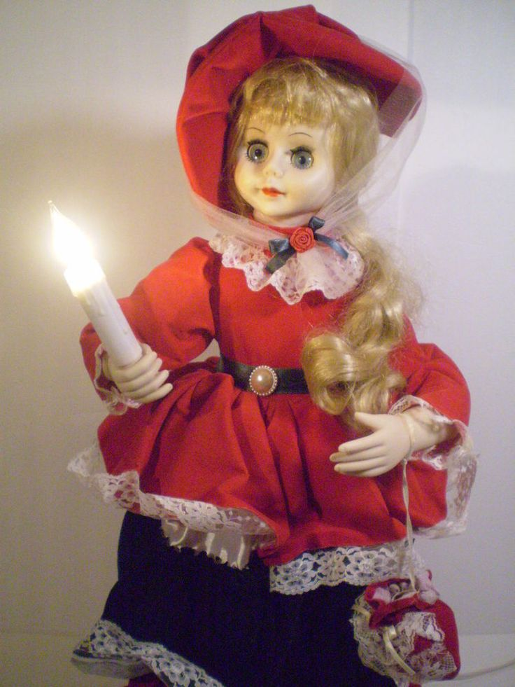 "Animated Holiday Girl Deluxe Victorian Styled Velvet Lady Lighted Rare  Big 27""  #HolidayVictorianMotionette"
