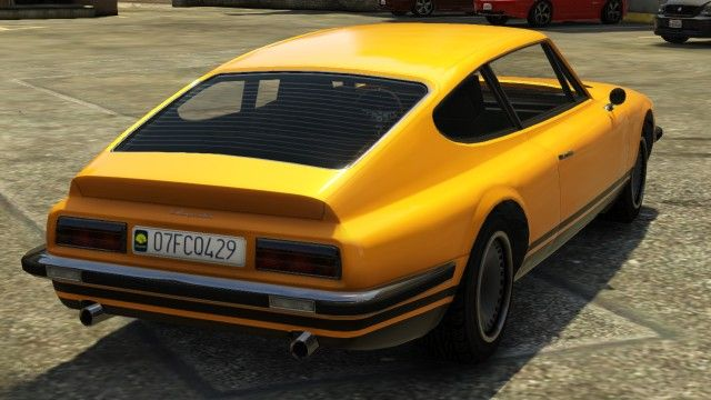 Yellow Lampadati Pigalle Gta Rear View Gta Sports Classic