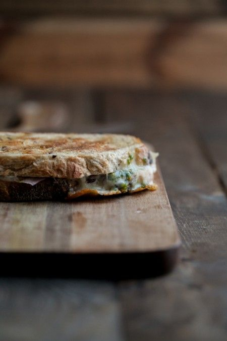 Pistachio-Parsley Pesto and Grilled Taleggio Cheese Sandwich