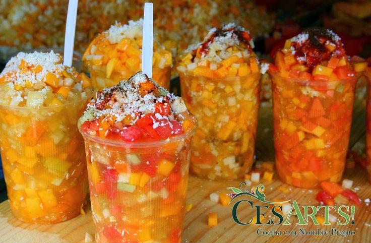 ¿Gusta Usted? : Gazpacho de frutas para el verano. Mezcla de frutas con chamoy. Se hace agua la boca!. Receta