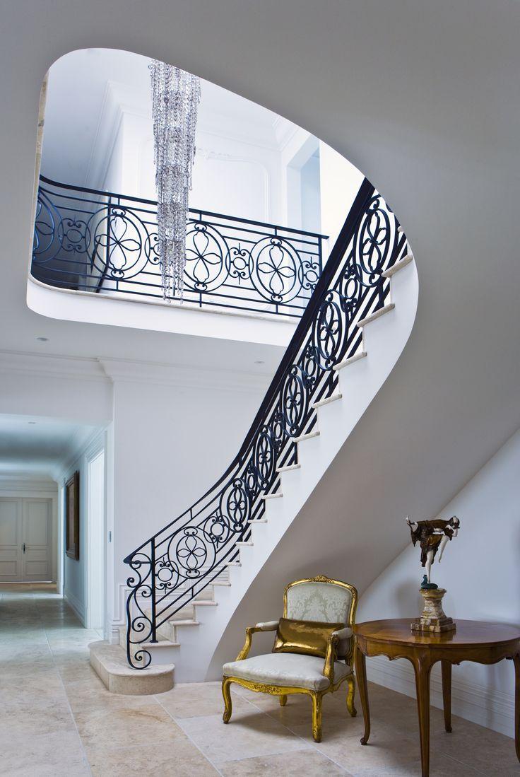 Entry foyer, custom designed wrought iron