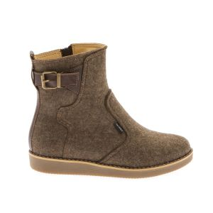 Brown Women Ankle Boot--Wool Felt shoes