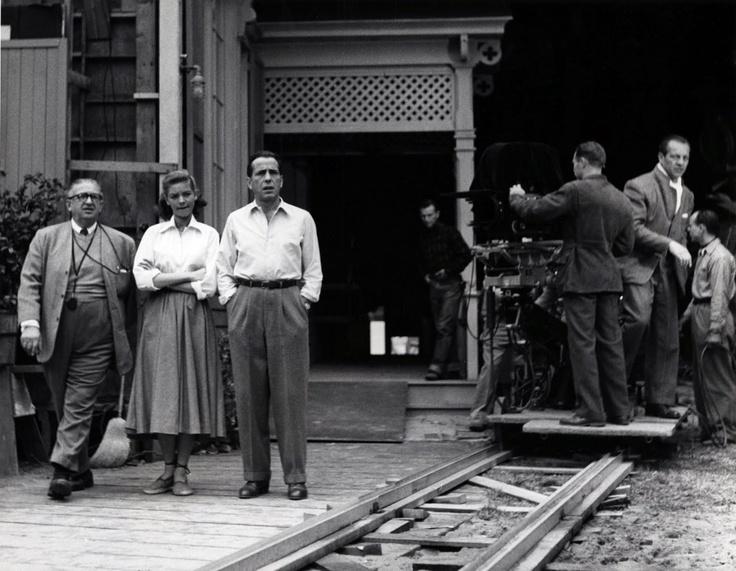 Bacall et Bogart sur le tournage de Key Largo