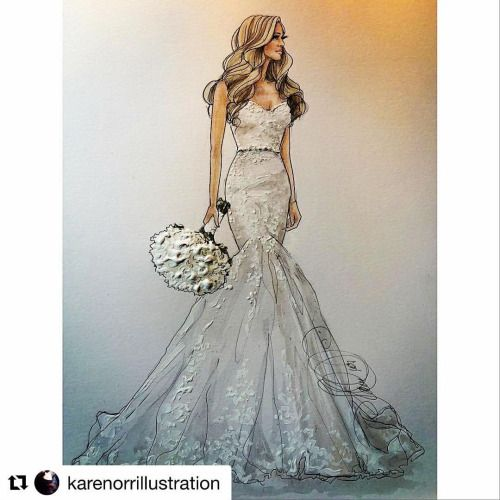 #Repost @karenorrillustration with @repostapp Beautiful Zia- #realbride #bridalillustration #couturebride #summerbride #cosmobride #bridalgift #weddinggifts (at Melbourne, Australia)