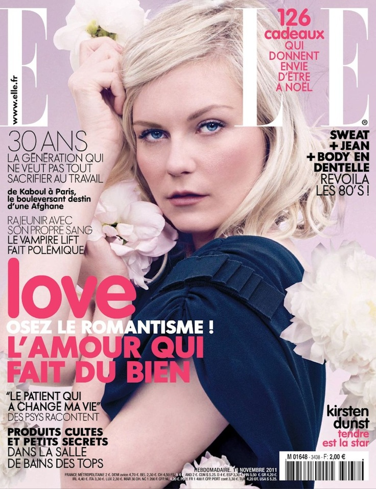 Kirsten Dunst: Colors Pallets, David Slijper, Make Magazines, Tional Uk, Fashion Magazines Covers, 2011 Covers, Covers Girls, Elle Covers Kirsten Dunst, September 2011