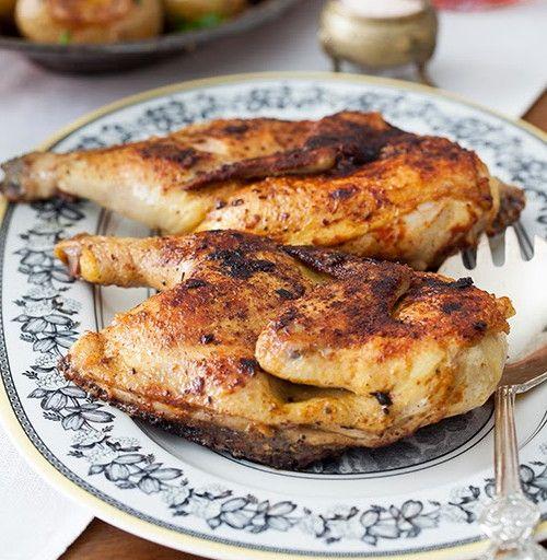 Жареный цыпленок на сковороде