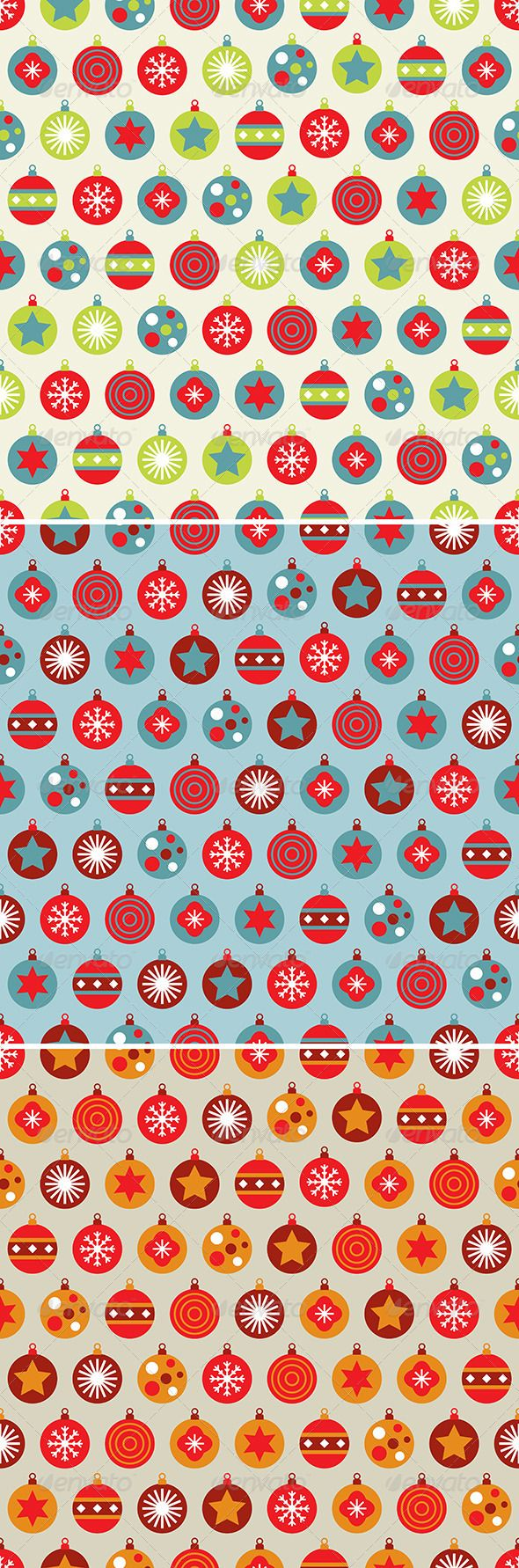 Seamless fir tree scandinavian pattern textile background wrapping - Christmas Bauble Pattern